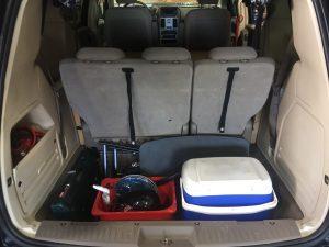 Sierra class campervans for rent: storage