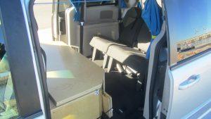 Campervan rear seating