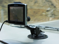 GPS campervan rental equipment