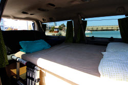 Ford campervans with beds for rent in US with roof top tents