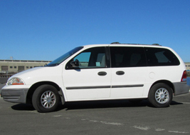 Ford Windstar campervans for rent with roof top tents in California and Utah