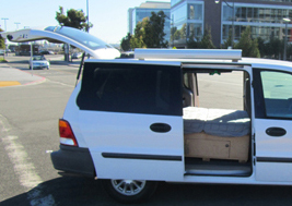 Dodge caravan campervan for rent