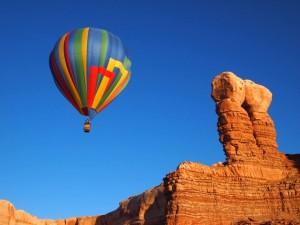 winter festival camping ballon festival Utah