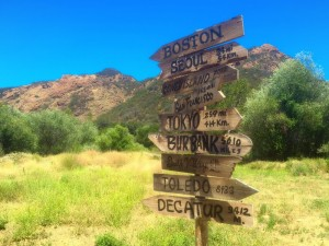 MASH signs, camping near Hollywood