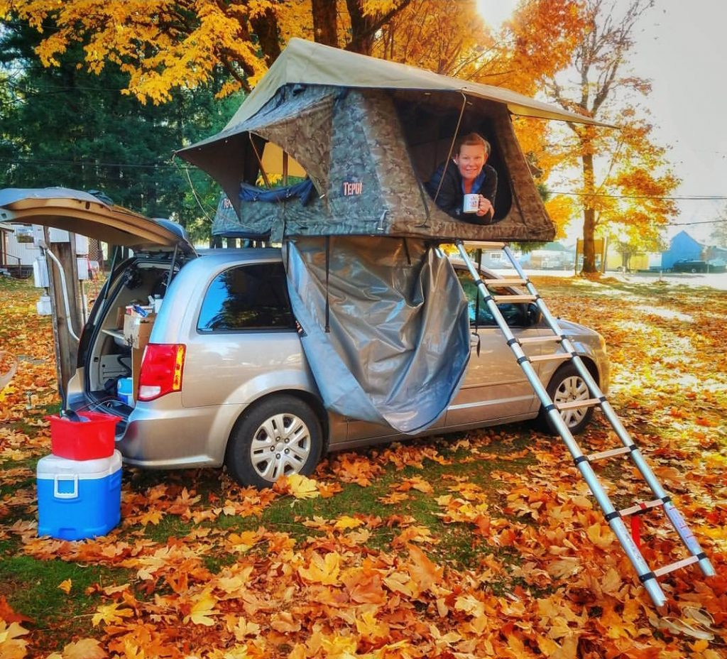 Offseason National Parks Car Camping with Lost Campers budget campervans with Roof top tent